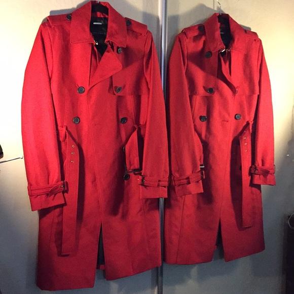Zara Jackets & Blazers - Zara women's red trench coat